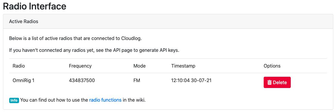 Cloudlog Hardware Interfaces