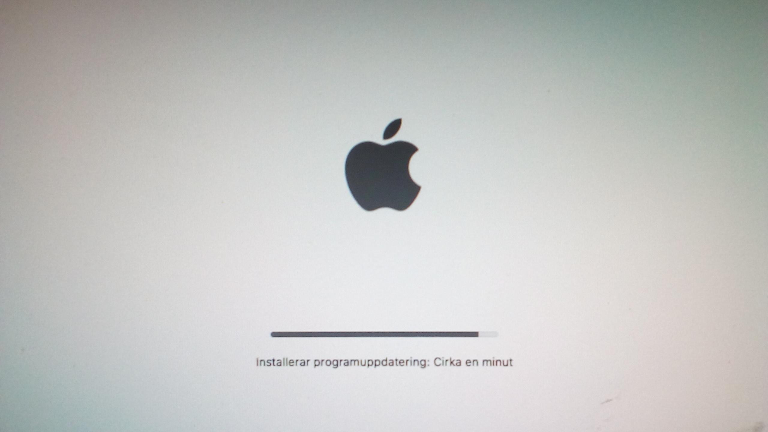Mac freezes when updating software