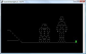 Star wars ASCII movie